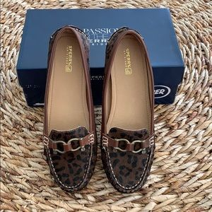 Sperry Top-Sider Jenna Leopard Moccasin 10M